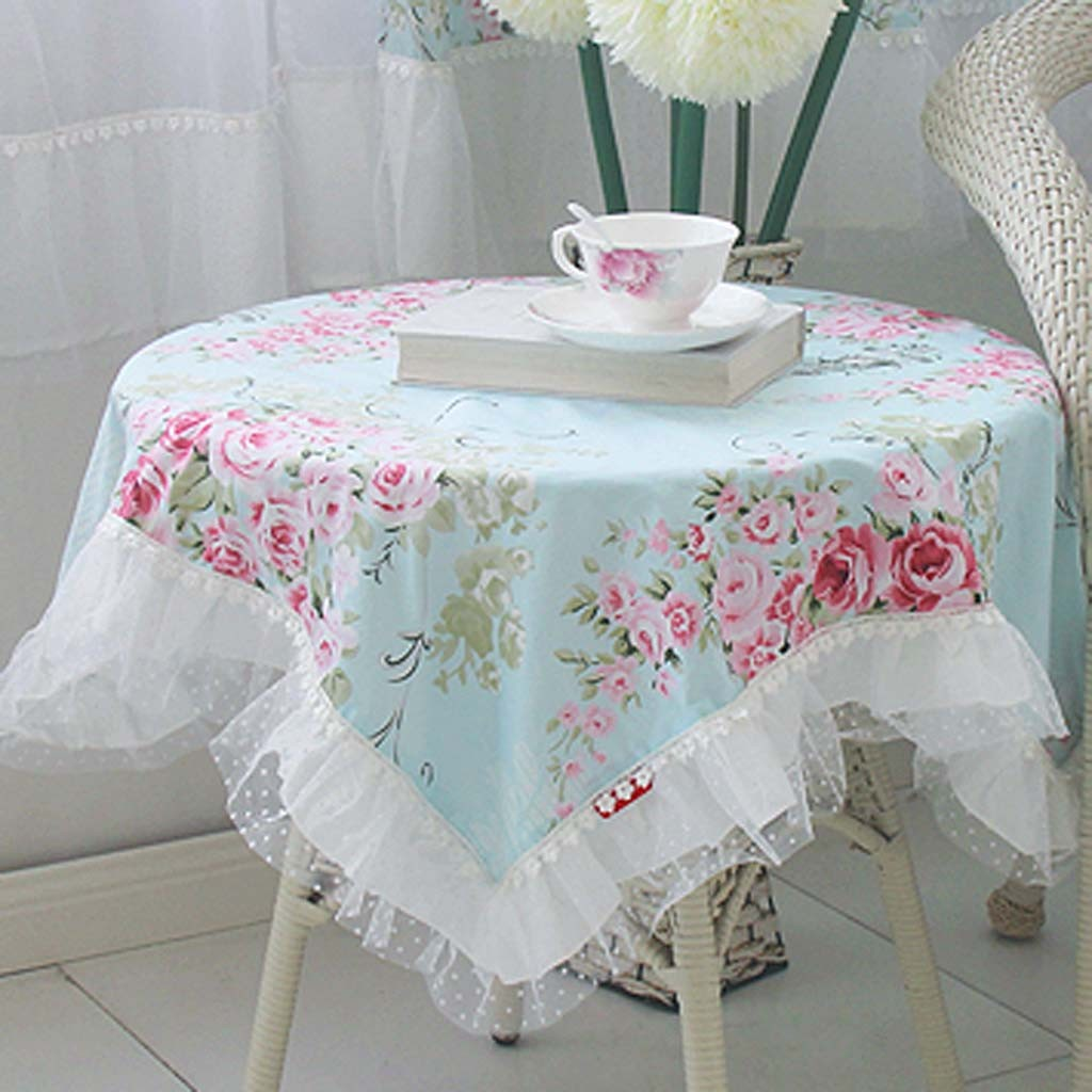 Round Shabby Chic Tablecloth - Table Designs